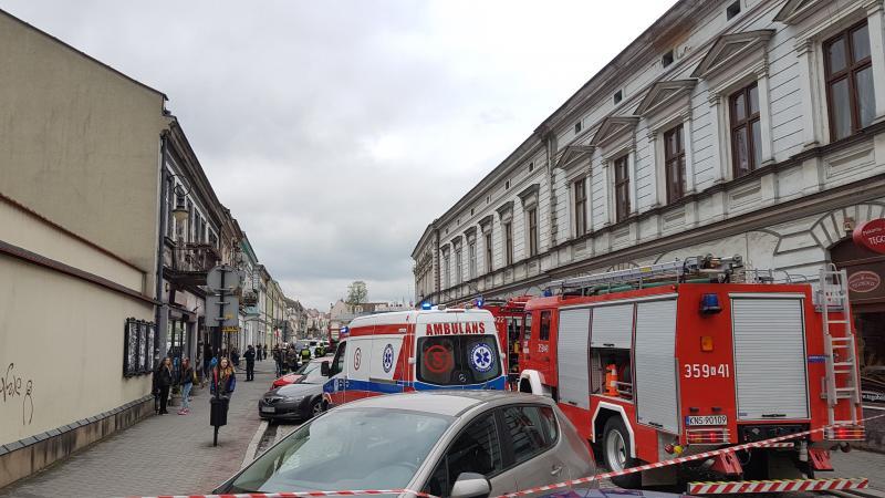 Pożar przy Piotra Skargi