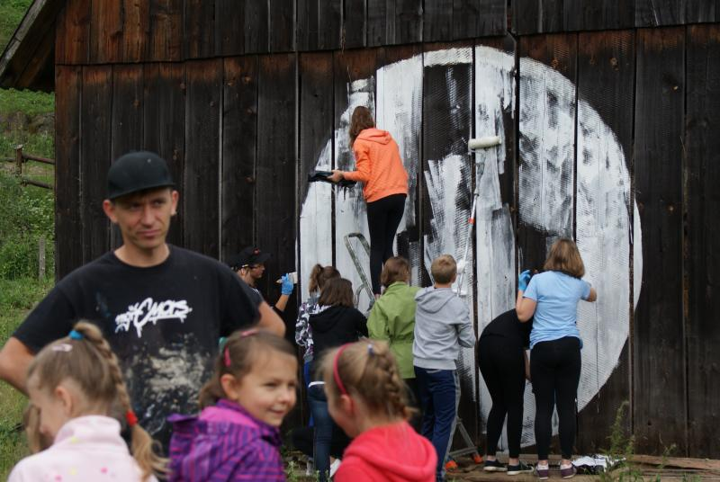 Zwycięski mural w Wierchomli