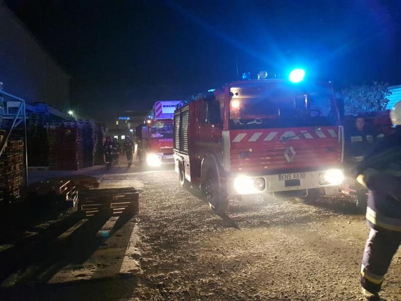 Z ostatniej chwili: pożar budynku firmy Konspol. Trwa akcja gaśnicza
