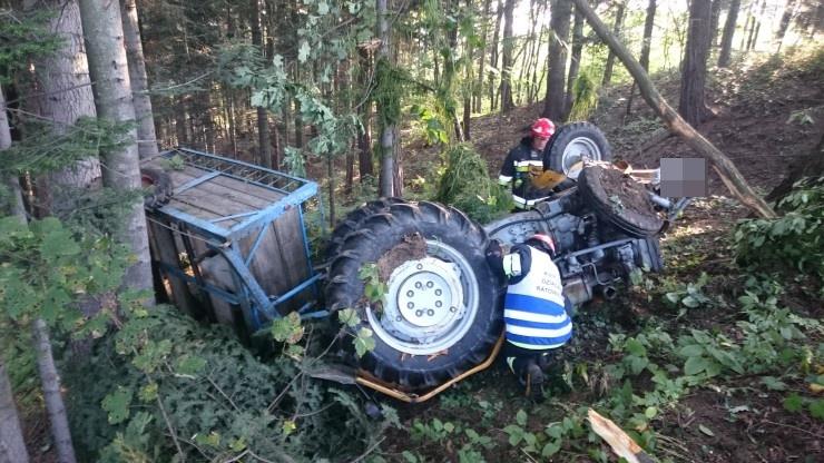 wypadek rolniczy w Sękowej