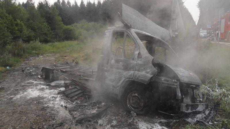 Doszczętnie spłonął kamper. Co się stało w Muszynce?
