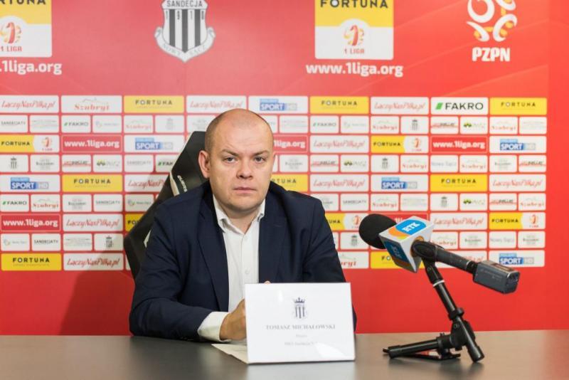 Tomasz Michałowski odchodzi z Sandecji