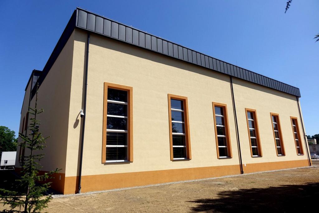 Sala gimnastyczna dla uczniów Liceum Ogólnokształcącego w Grybowie. Fot. Maria Olszowska