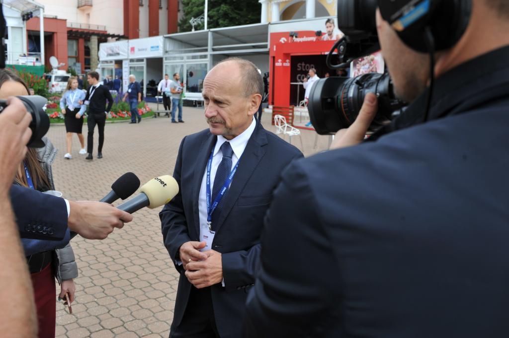 Zygmunt Berdychowski podczas Forum Ekonomicznego w Krynicy-Zdroju