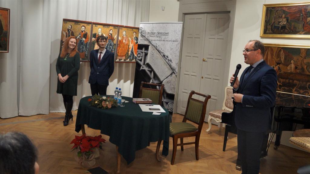 Spotkanie promujace książkę Łukasza Połomskiego odbyło się w pięknych wnętrzach nowej siedziby Muzeum Okręgowego w Nowym Sączu