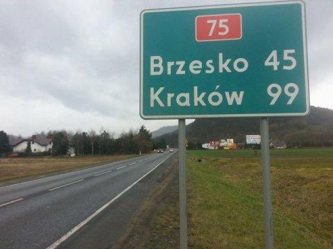 droga Brzesko - Nowy Sącz