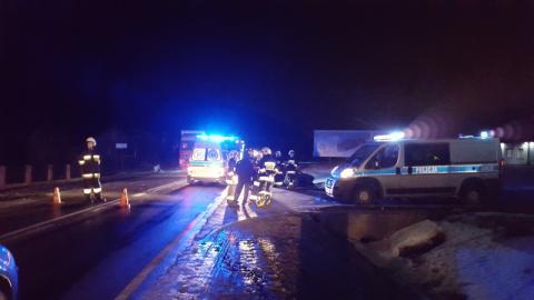 Tragiczny wypadek w Łużnej. Droga jest zablokowana