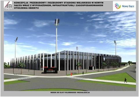 Nowy projekt stadionu Sandecji
