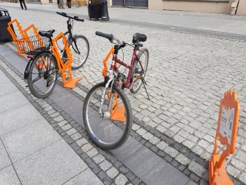 stojaki rowerowe w Nowym Sączu, fot. Iga Michalec
