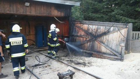 Zaprószenie ognia przyczyną pożaru w Uściu Gorlickim