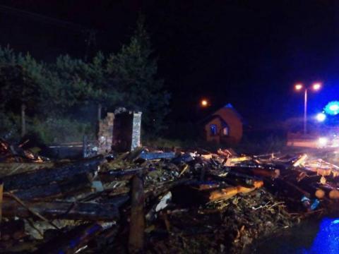 Pożar w Obidzy