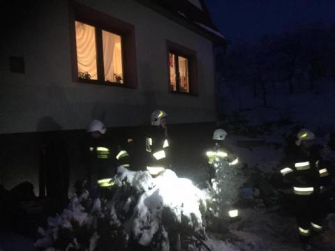 Pożar kotłowni w Roztoce. Mężczyzna z poparzeniami twarzy i rąk zabrany do szpitala