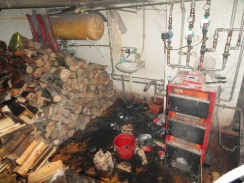 Było o krok od nieszczęścia. Omal nie spalił i  się dom