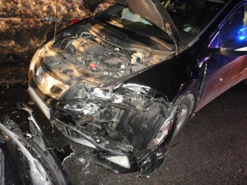 W Tyliczu zderzyły się dwie osobówki. W autach podróżowało dwoje dzieci