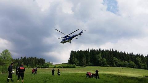 Mszana Dolna: w Olszówce szukają w lesie rannego 65-latka