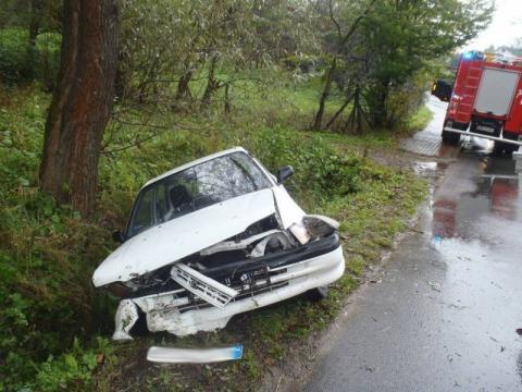 Wypadek za wypadkiem. Najpierw w Olszanie, potem w Łazach Biegonickich. Są ranni