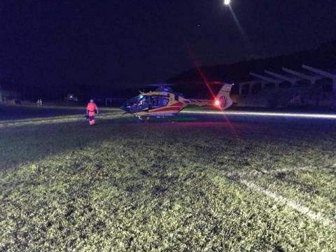 Wypadek na torze motocrossowym. Mężczyzna został zabrany śmigłowcem do szpitala