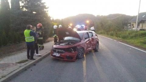 Karambol w Świdniku: zderzyły się dwie ciężarówki i samochód osobowy