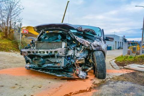 Wypadek na drodze krajowej 75. Droga była zablokowana