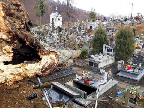 Uszkodzone dachy na domach, kościele, szkole. Strażacy interweniowali 306 razy