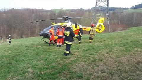 Dramatyczny wypadek w Lipnicy Wielkiej. Na miejsce leci śmigłowiec LPR