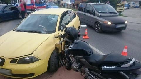 Wypadek na Krakowskiej: motocyklista w szpitalu. Śledztwo trwa