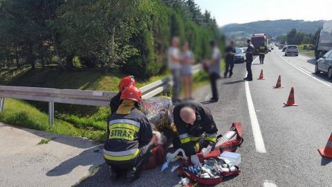Wójtowa: Małoletni motocyklista przegrał starcie z mercedesem