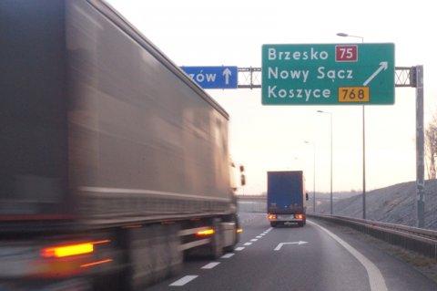 droga Brzesko -Mowy Sącz