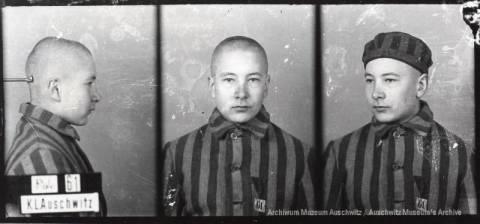 Jerzy Bogusz, zdjęcie wykonane przez obozowe gestapo