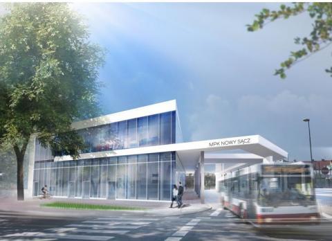Tak będzie wyglądał nowy dworzec MPK przy ul. Kolejowej w Nowym Sączu