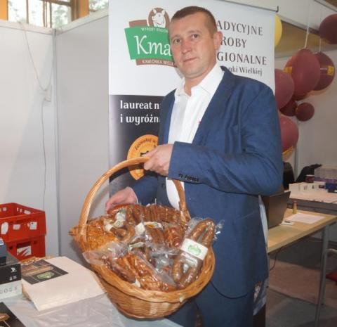 Dariusz Kmak, właściciel Zakładu Masarskiego w  Kamionce Wielkiej