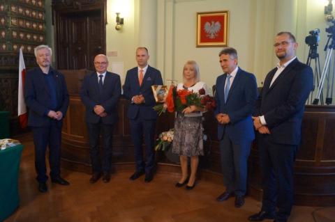 tarcze herbowe dla Antoniny Dzikowskiej i Radosława Pietrzkiewicza