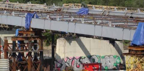 Most heleński - faza spawania