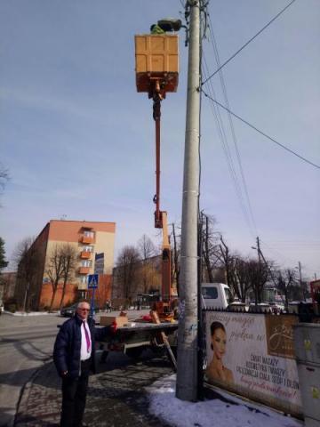 oświetlenie przy ul. Lwowskiej w Nowym Sączu