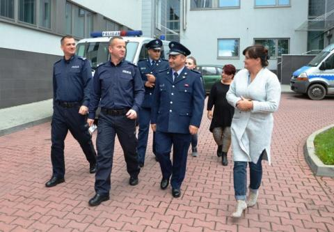 Delegacja z Cypru w sądeckiej komendzie policji