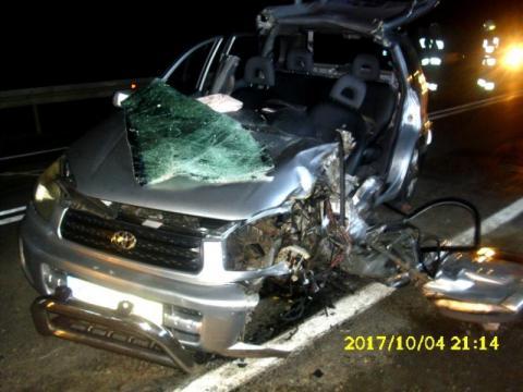 Tragiczny wypadek w Gródku. Auta zmiażdżone. Pięć osób trafiło do szpitala