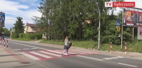 Niebezpieczne przejście przy szkole muzycznej przy Nawojowej