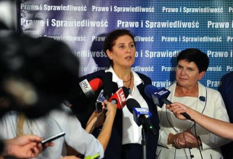 Iwona Mularczyk i Beata Szydło
