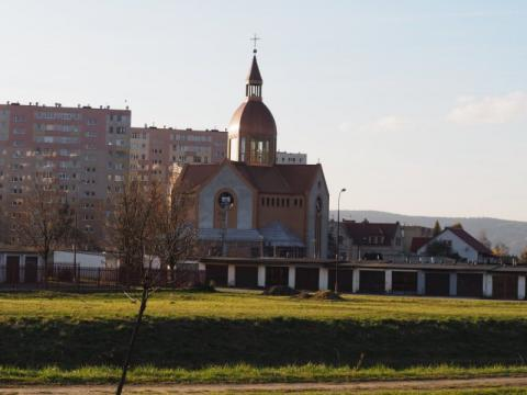 Kościół na osiedlu Poręba Mała