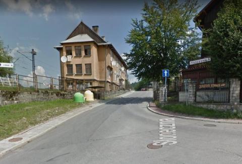 ulica Słoneczna w Krynicy-Zdrój