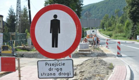 Nowy chodnik w Łabowej