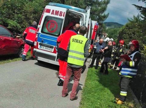 Wypadek w Szczawie