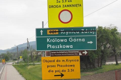 Osuwisko w Kąclowej - do kiedy zamknięta droga?