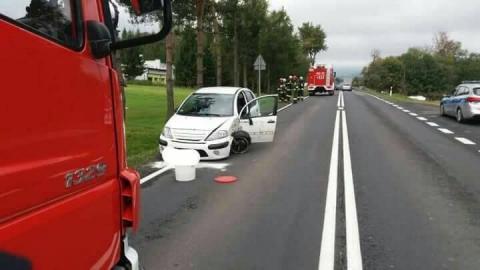Tymbark: Wyglądało groźnie, na szczęście kierowcy wyszli z kolizji bez szwanku