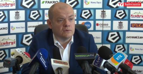 Danek zrywa z Sandecją a nowy prezes Michałowski odprawia z kwitkiem trenera
