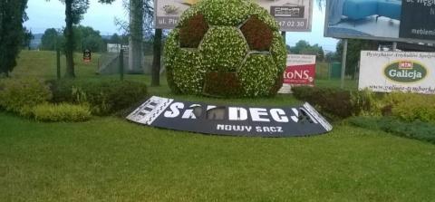 Dziś, 24 czerwca Sandecja gra z Cracowią Kraków! Może zamiast piłki ufundować pomnik piłkarza?