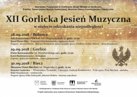 Koncerty na 100-lecie niepodległości – XII Gorlicka Jesień Muzyczna