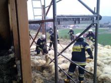 O krok od tragedii. Palił się nowo wybudowany dom w Wojnarowej
