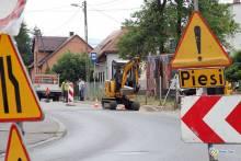Buduje się - w końcu - chodnik przy ulicy Prusa!