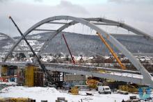 Budowa mostu heleńskiego idzie z harmonogramem, fot. UM w Nowym Sączu